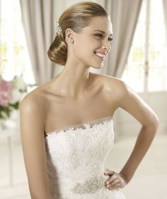 Honorable A-line Strapless Beading Lace Sweep/Brush Train Tulle Wedding Dresses with Half Sleeves Jacket : Wedding Dresses, Bridesmaid Dresses, Gowns Online Shop, | Aisle Style UK