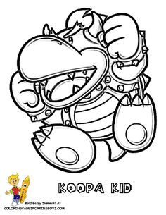 Cool Mario Pictures Coloring Koopa Kid Yescoloring