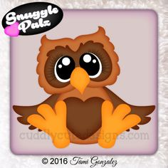 Snuggle Palz Page 3 Fall Owl, Childhood Characters, Owl Eyes, Scroll Pattern, Halloween Clipart, Pet Rocks, Felt Patterns, Ornaments Design, Baby Owls