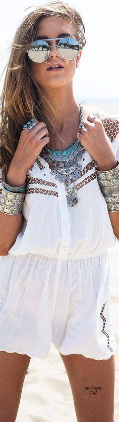 Boho Look | Bohemian boho style hippie chic bohème vibe gypsy fashion indie folk the 70s
