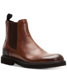 Mens WOOD WORLD Leather Dealer Chelsea Safety Steel Toe Cap Work Shoe Boots Size