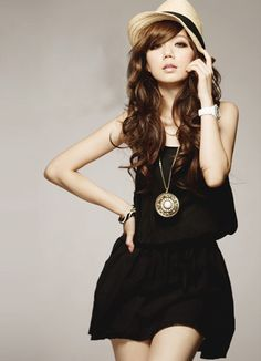 Black Simple Style Ladies Summer Dresses Wholesale  Item Code:#FA7390+Black     Price: US$9.29