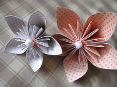 origami flowers wedding decorations flower by RosesDecorations, €6.50