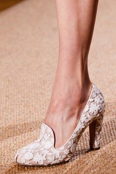 I used to edit a bridal magazine. These shoes seem so bridal to me. I love them. | Valentino 2012