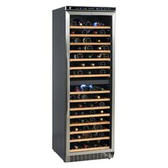 Avanti : WCR683DZD2 24 Freestanding Wine Cooler with Wooden Shelves $1,249.99