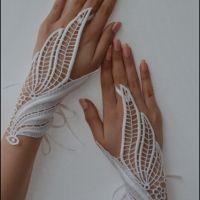 light beige Wedding gloves free ship leaf bridal by newgloves. Beige Wedding, Lace Wedding, Crochet Wedding, Fantasy Wedding, Chic Wedding, Trendy Wedding, Wedding Gloves, Fantasy Dress, Fantasy Jewelry