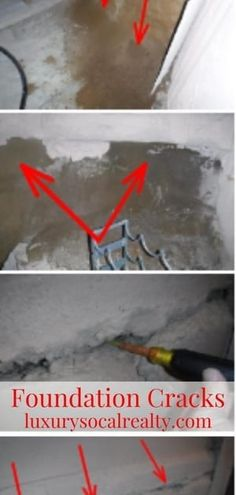 This Is Why You Should Check Your Home For Foundation Cracks ASAP.  Potentially hazardous foundation cracks affect over 25% of US homes. We'll show you how to find out if your home is one of them and what to do about it.  These photos represent efflorescence noted on the foundation walls a result of poor grading of the soil, planters and or sprinkler leaks by Joy Bender LuxurySoCalRealty - Compass San Diego Real Estate #luxurysocalrealty Mission Beach San Diego, Pacific Beach San Diego, Ocean Beach San Diego, Solana Beach California, Carlsbad California, Encinitas California, Oceanside California, Point Loma San Diego, San Diego Neighborhoods