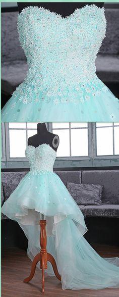 High-Low Prom Dress, Handmade Prom Dress,Prom Dresses,Prom Dresses,Evening Dress, Prom Gowns, Formal Women Dress,prom dress