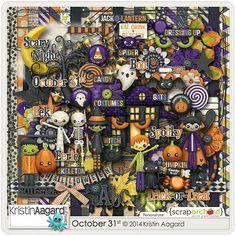 Digital Scrapbook Kit - October 31st | Kristin Aagard