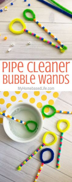 Super Easy Pipe Cleaner Bubble Wands | My Home Based Life