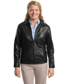 Women's Lambskin Jacket - Buy port authority signature ladies park avenue lambskin jacket at Gotapparel.com.