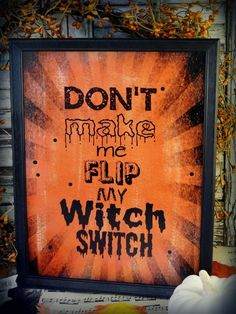 Halloween Witch switch sign pdf digital by Hudsonsholidays