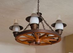 Charming Details About Wagon Wheel Chandelier