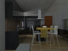 ΠΡΟΤΑΣΗ ΔΙΑΜΟΡΦΩΣΗΣ ΚΟΥΖΙΝΑΣ ΔΙΑΜΕΡΙΣΜΑΤΟΣ ΣΤΗ ΝΙΚΑΙΑ Design Projects, Architecture Design, Interiors, Interior Design, Studio, Table, Furniture, Home Decor, Nest Design