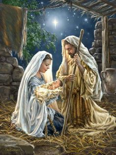 ⭐️✨ Jesus was Born on Christmas ✨⭐️ Jesus was born on Christmas, on a very holy night, and in the sky above Him, shone the very brightest light. Christmas Nativity Scene, Christmas Scenes, Christmas Pictures, Christmas Christmas, Nativity Scenes, Christmas Quotes, Christmas Crafts, Jesus Christ Images, Illustration Noel