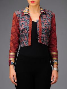 Indian vest that ca be teamed up with plain salwar, long skirt or western top for ethnic look. Sophisticated indeed!!
