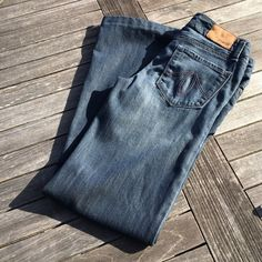 "Level 99 Wide leg Jeans 24 Previously hemmed to 30"" inseam. Anthropologie Jeans Flare & Wide Leg"
