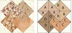 Card Trick Quilt Block Pattern - Janet Wickell