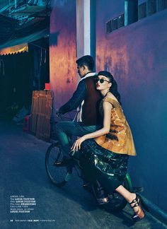 """In the Mood for Love""   Cao Lam Vien & Angel Lee.  Photo by An Le  Elle Man Vietnam"