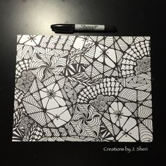The cover I made for a journal I'm going to put together. Tangle patterns: cadent, Florez, ixorus, plumes, zedbra, cockles 'n' mussels, baton, sez, wud