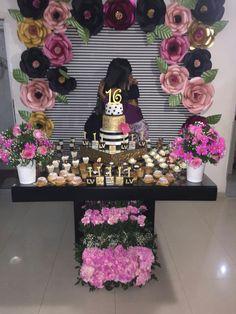 Meus 15 anos Sweet 16 Birthday, Happy Birthday Wishes, 16th Birthday, Birthday Parties, Balloon Decorations, Birthday Party Decorations, Wedding Decorations, Kate Spade Party, Sweet 16 Gifts
