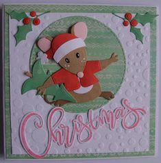 Hallo allemaal...deze keer een kaartje met de leuke muis....hij is hier aan het logeren voor een weekje...ik hoop dat jullie deze week ook w...