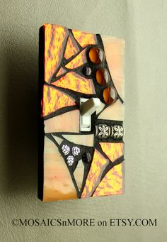 unique light switch plates printable citrus orange single mosaic light switch cover by mosaicsnmore plate covers plates 150 best unique images switch covers