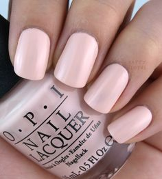 Stop I'm Blushing - OPI SoftShades 2016 Collection A soft warm pastel pink - very sheer color Opi Pink Nail Polish, Opi Nails, Nail Manicure, Manicure Ideas, Stiletto Nails, Manicures, Nail Ideas, Pastel Pink Nails, Blush Nails