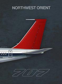 Northwest Orient 707, by Rick Aero www.Facebook.com/VintageAirliners www.VintageAirliners.com