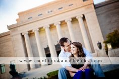 Kansas City Engagement photo at the Nelson-Atkins Museum ~ Kansas City Engagement Photographers Melissa & Beth