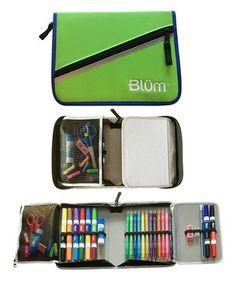 Look at this #zulilyfind! Lime & Cobalt Grade K-1 School Gear Set by Blüm #zulilyfinds