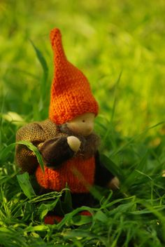 Gnome Waldorf doll // creature from tale // guard treasures and home