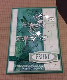 "Dragonfly Dreams, Cheryl Algie ""Independent Stampin' Up! ® Demonstrator"" : ESAD 2017 Occasions Catalogue and Sale-a-bration Sneak Peak Stampin Up Anleitung, Stampin Up Karten, Making Greeting Cards, Greeting Cards Handmade, Bee Cards, Friendship Cards, Stamping Up Cards, Butterfly Cards, Cards For Friends"