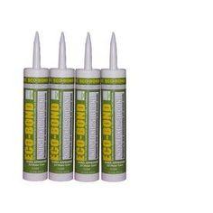 Eco-Bond 40.4-Oz Clear Paintable Specialty Caulk Sil1000-4 Pk