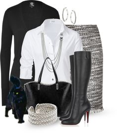 """""""Classic Black & White"""" by katc on Polyvore"""