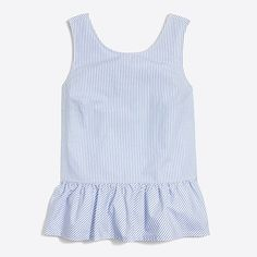 striped bow-back peplum tank top : factorywomen blouses & tops