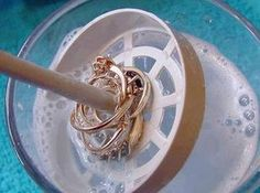 NEVER BUY JEWELRY CLEANER AGAIN! Recipe. Also non toxic. I'll have to give it a try.