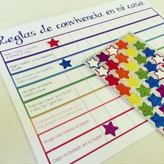 Para tratar de establecer un orden en casa, implementamos estas tablas que tienen las reglas de convivencia en cada área de la casa