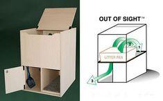 Hidden Cat Litter Box and Supplies: Here you go Wendy.