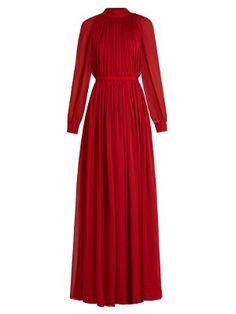 Gathered silk-mousseline gown  | Maison Rabih Kayrouz | MATCHESFASHION.COM