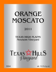 Dessert Wine.....2011 Texas Hills Vineyard Orange Moscato 500 mL >>> More details @ http://www.amazon.com/gp/product/B00CHCKKZY/?tag=wine3638-20&pxy=180816083114