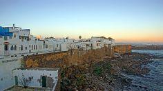 Morocco, Asilah, scape on the atlantic ocean coast