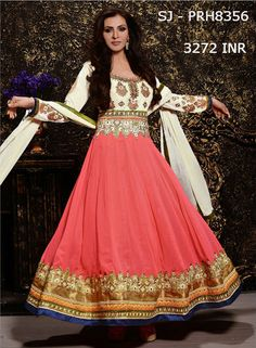 Adorn your collection with splendid floor-length anarkali salwar suit available in abstract hues at MohiniSareeOnline. Get the hottest-selling designer suit and be an ethnic queen by flaunting your distinctive vogue!!!