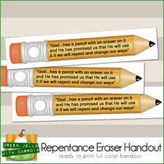 Repentance Eraser LDS Handout