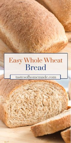 This honey whole wheat bread is light and fluffy. Easy to make using simple ingredients, this wholesome bread is perfect for sandwiches and toast. Whole Wheat Bread Machine Recipe, Best Whole Wheat Bread, Basic Bread Recipe, Honey Wheat Bread, Bread Machine Recipes, Vegan Wheat Bread Recipe, Bread Bun, Yeast Bread, Vegetarian Food