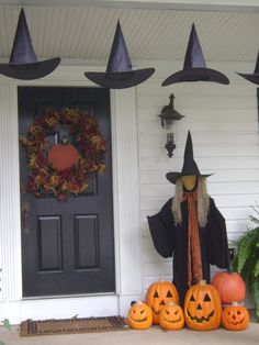 I like the witches hats for front porch.