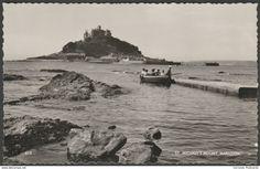 St Michael's Mount, Marazion, Cornwall, c.1960 - D E M Thomas RP Postcard