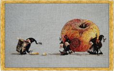 Apple (Pomme)  (chart)  Product No: 688842   Supplier Code: NIM-POM     Designer/Artist: Nimue  Our Price: $ 18.99