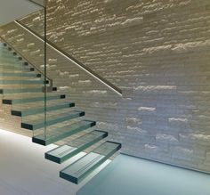 Modern Glass Floating Stair Cases/Stair/Stairway picture from Shenzhen Prima Industry Co. view photo of Staircase, Floating Stair Cases, Floating Stairs. Glass Stairs Design, Staircase Design, Staircase Ideas, Stair Design, Open Staircase, Floating Staircase, Modern Tv Units, Escalier Design, Glass Balustrade