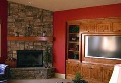 used brick corner fireplace | Corner Fireplace Pictures